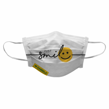 VIMBELA - Just Smile (pack of 100) R5998.00 excl VAT - E-Mail your design to Rudik@xco.co.za should you wish to order.