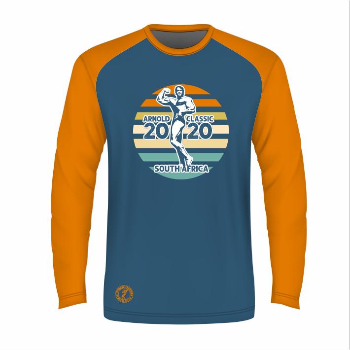 Unisex Retro Long Sleeve T-Shirt - Blue