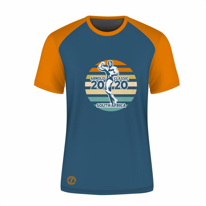 Unisex Retro Short Sleeve T-Shirt - Blue