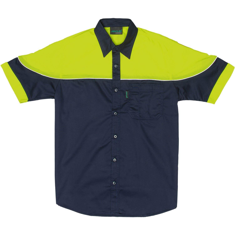 Navy & Orange / Navy & Lime Racing Shirt / Black & Kawasaki Green