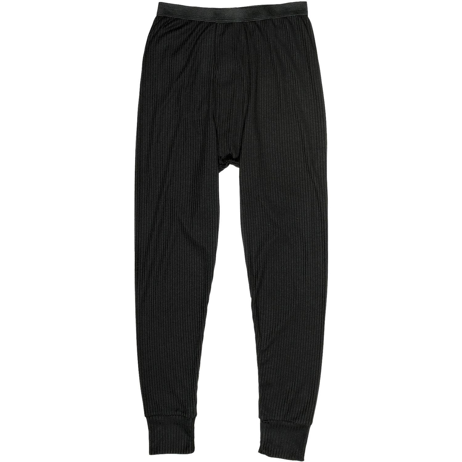 Black Thermal Long John Pants