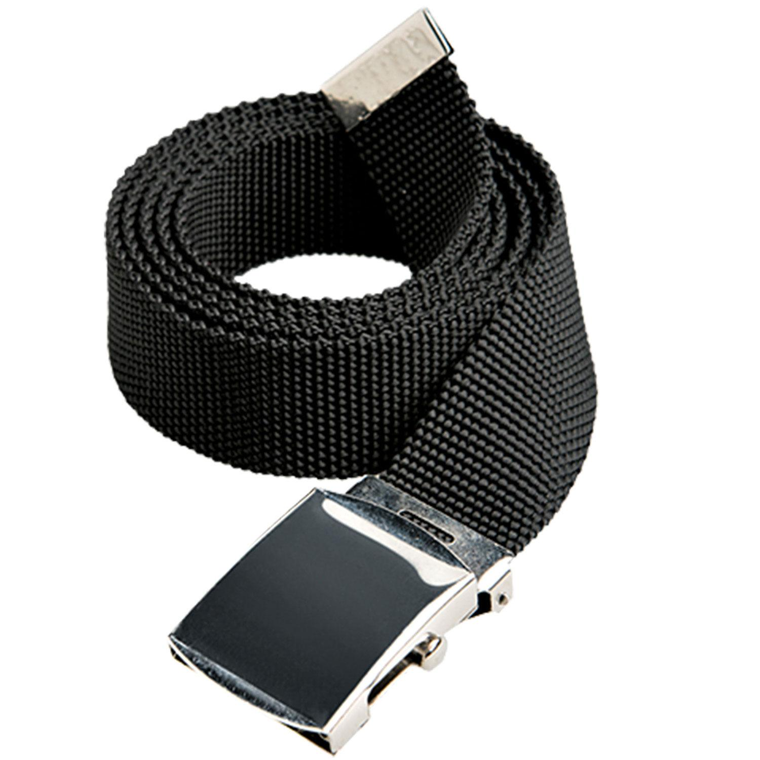 Black Nylon Belt 30mm - Silver Buckle