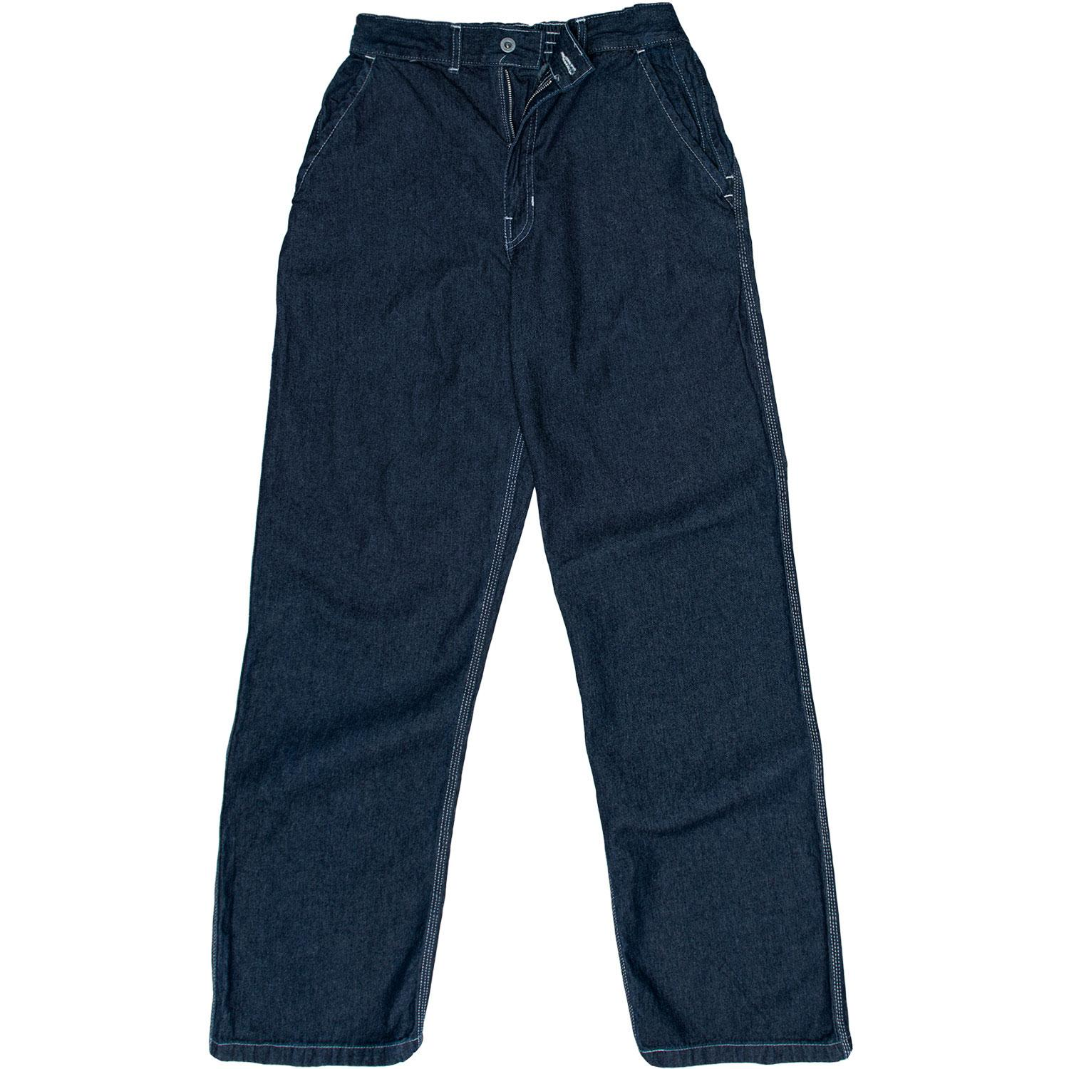 Blue Indigo Denim Conti Trousers