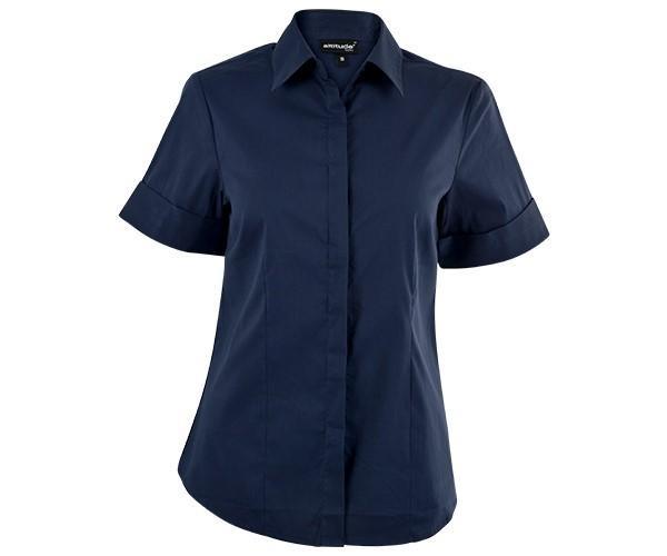 Denise Short Sleeve Blouse - Navy Only