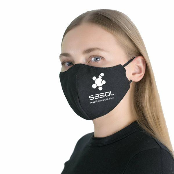 FACE MASKS & SHIELDS | Ladies Gage 3 Layer Washable Face Mask With 1 Col - 1