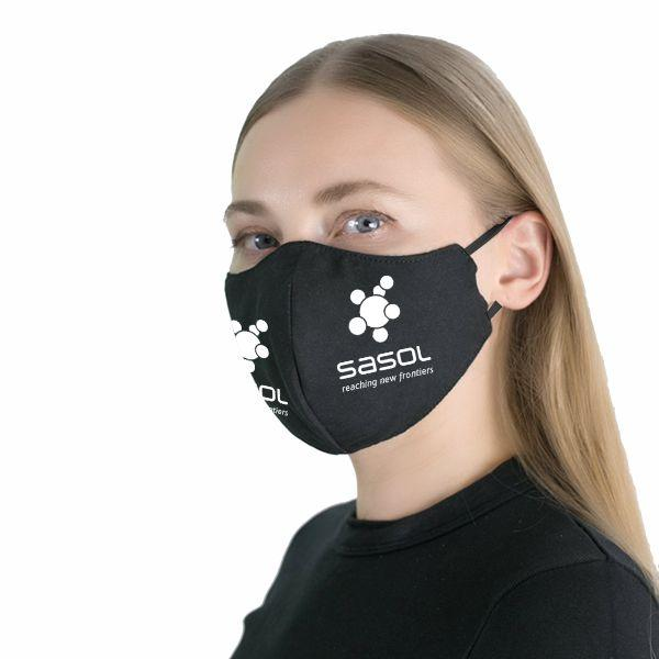 FACE MASKS & SHIELDS | Ladies Gage 3 Layer Face  Mask With 1 Col On 2 Sid - 1