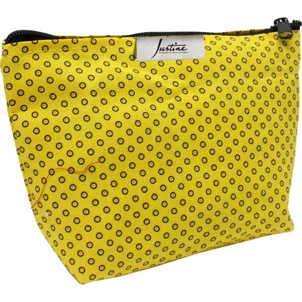 Shweshwe Lila Cosmetic Bag With Fc Tag