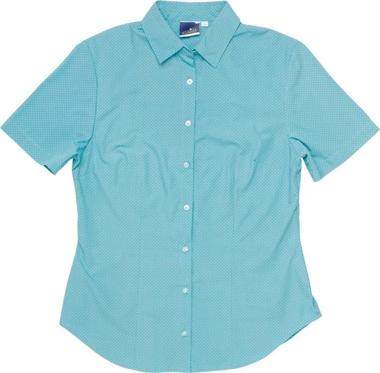 Rita Short Sleeve Blouse - Aqua Only