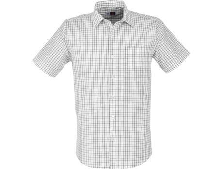 Mens Short Sleeve Aston Shirt - White Only