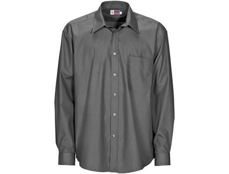 Mens Long Sleeve Washington Shirt - Grey Only