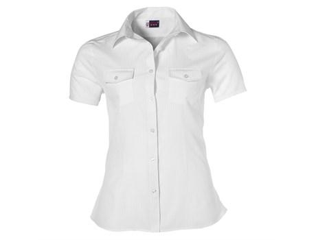 Ladies Short Sleeve Bayport Shirt -white Only