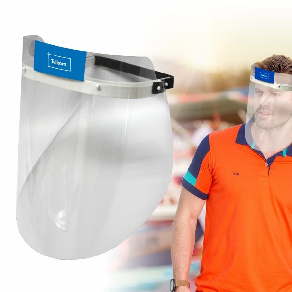 Adult Face Shield With Full Colour Sticker