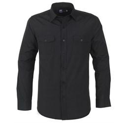 Mens Long Sleeve Bayport Shirt - Black Only