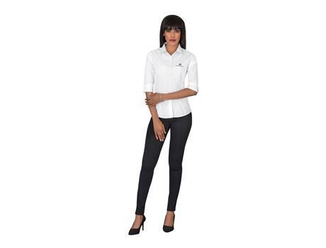 Ladies 3/4 Sleeve Duke Shirt -white Only