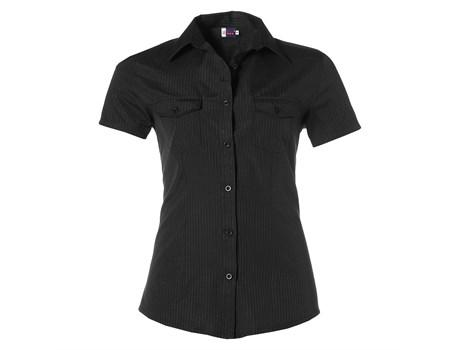 Ladies Short Sleeve Bayport Shirt - Black Only