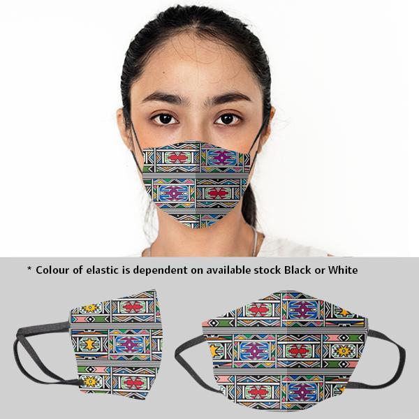 Ladies Ndebele 3 Layer Beak Mask