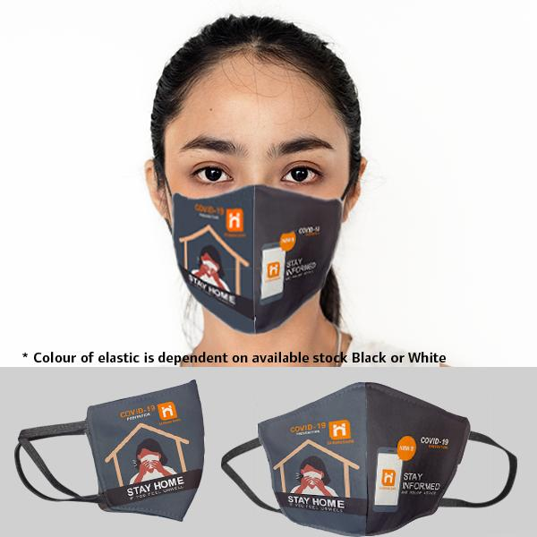 Be Safe 3 Layer Beak Mask-ladies | Wash Hands