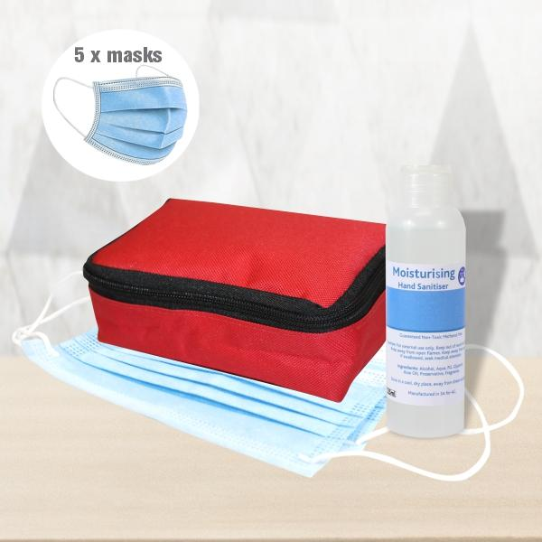 Rapid Mask And Hand Sanitiser Pack