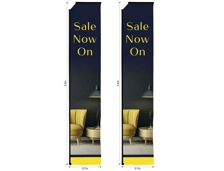 Legend 4m Telescopic Flying Banner Skin (set Of 2)