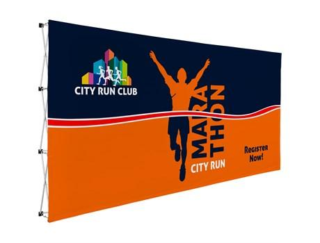 Legend Straight Banner Wall 4.45m X 2.25m