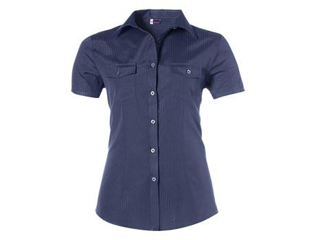 Ladies Short Sleeve Bayport Shirt - Navy Only