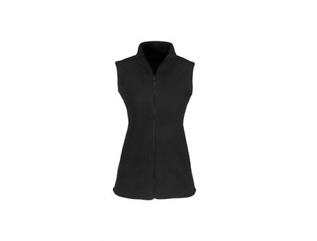 Ladies Yukon Micro Fleece Bodywarmer - Black Only