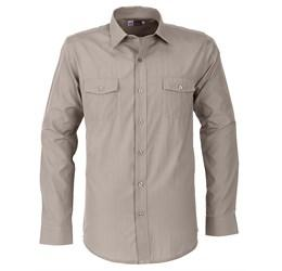 Mens Long Sleeve Bayport Shirt - Khaki Only