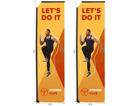 Legend 3m Telescopic Flying Banner Skin (set Of 2)