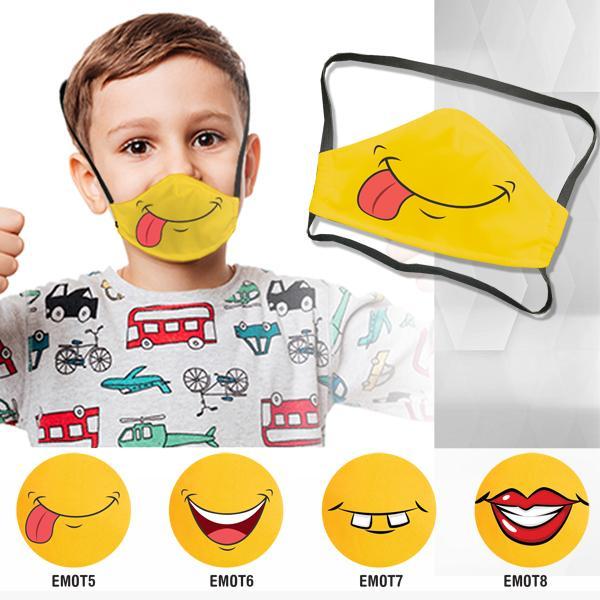 FACE MASKS & SHIELDS | Boomer Emoji 3 Layer Washable Face Mask - 1