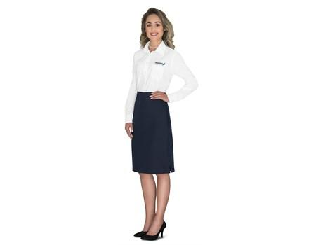 Ladies Long Sleeve Washington Shirt -white Only