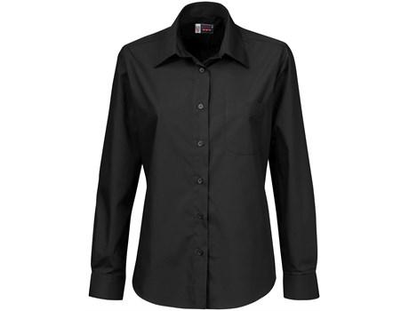 Ladies Long Sleeve Washington Shirt - Black Only