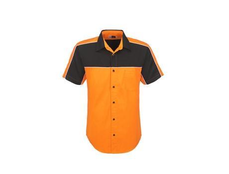 Mens Daytona Pitt Shirt - Orange Only