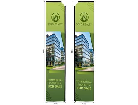 Legend 4m Telescopic Double-sided Flying Banner Skin