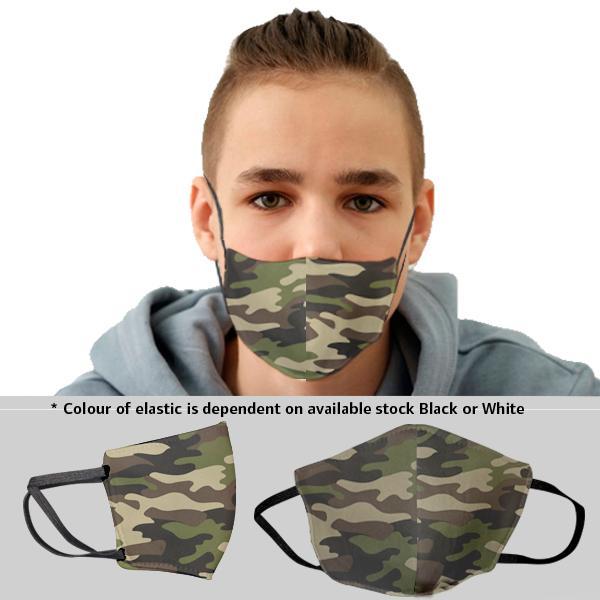 Kiddo Camo 3 Layer Beak Mask 14-17years