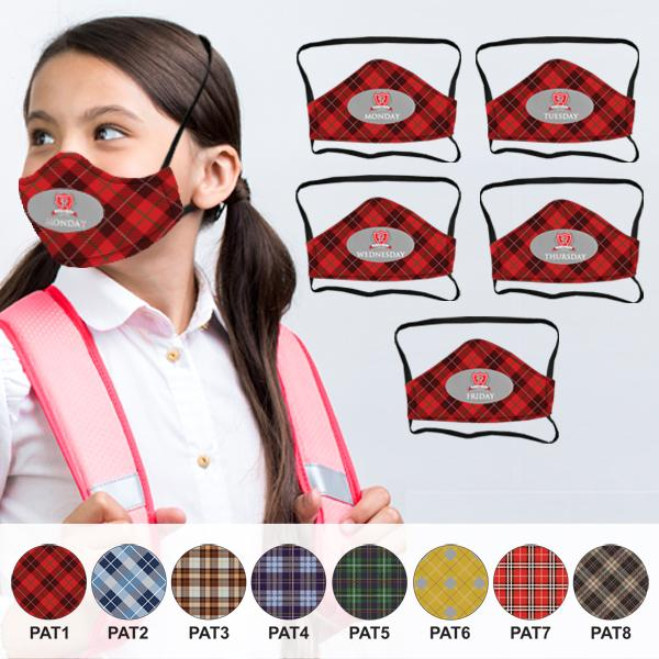 Plaid Smarty 5 Day 3 Layer Fc Face Mask