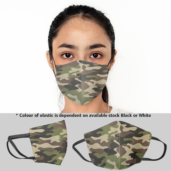 Ladies Camo 3 Layer Beak Mask