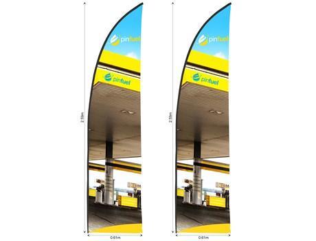 Legend 2m Arcfin Single-sided Flying Banner (set Of 2)