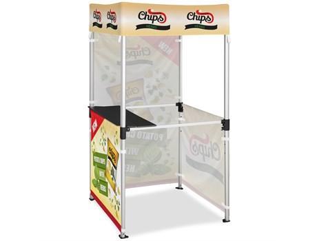 Ovation Gazebo 1m X 1m Kiosk 3 Half-wall Skins 1 Full-wall Skin