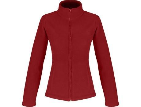 Ladies Yukon Micro Fleece Jacket - Red Only
