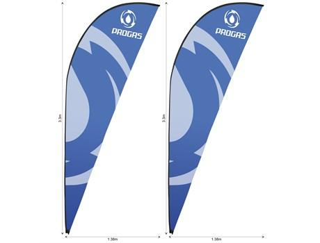 Legend 3m Sharkfin Flying Banner Skin (set Of 2)