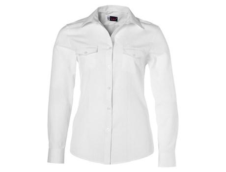 Ladies Long Sleeve Bayport Shirt -white Only