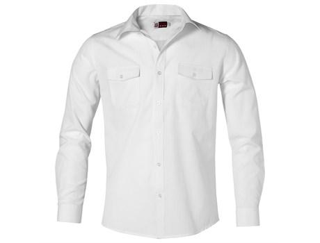 Mens Long Sleeve Bayport Shirt -white Only
