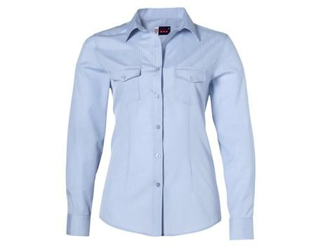 Ladies Long Sleeve Bayport Shirt - Light Blue Only