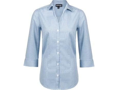 Ladies ¾ Sleeve Edinburgh Shirt - Blue Only