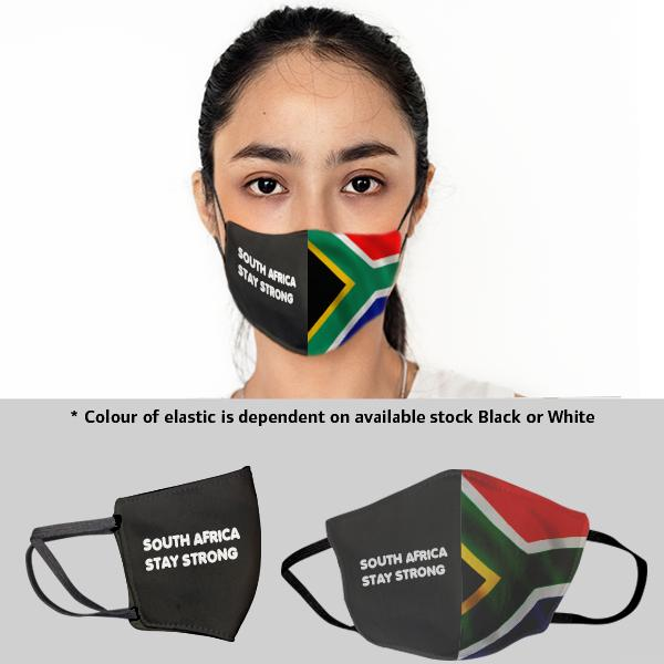 Sa Flag 3 Layer Beak Mask - Ladies