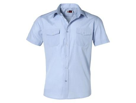 Mens Short Sleeve Bayport Shirt - Light Blue Only