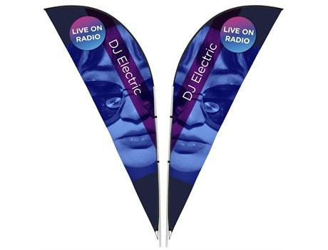 Legend 3m Sharkfin Double-sided Flying Banner