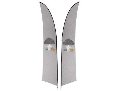 Legend 3m Arcfin Double-sided Flying Banner
