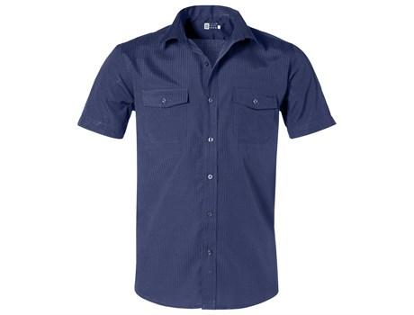 Mens Short Sleeve Bayport Shirt - Navy Only