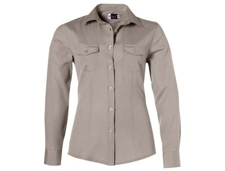 Ladies Long Sleeve Bayport Shirt - Khaki Only